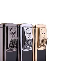 金属骷髅鬼头防风打火机气体充气金属电子创意个性金属烟具