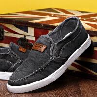 新款板鞋注塑鞋运动老北京布鞋一脚蹬懒人鞋