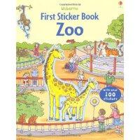 The Zoo 进口英文原版 宝宝贴纸书:动物园