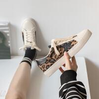 豹纹鞋女2019春季小白鞋百搭韩版学生女鞋欧美风港风板鞋