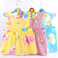 宝宝围裙无袖儿童罩衣画画衣防水婴儿吃饭围兜反穿衣护衣