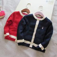 秋季新款女童针织衫上衣 针织开衫毛衣外套