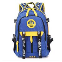 韩版防水双肩包休闲学院风男女中学生书包潮旅行包电脑包背包