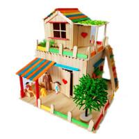 雪糕棒�和�手工制作模型房子材料包幼��@��意玩具