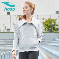 浩沙hosa秋冬季新款中长袖瑜伽服短袖上装瑜珈健身表演服女