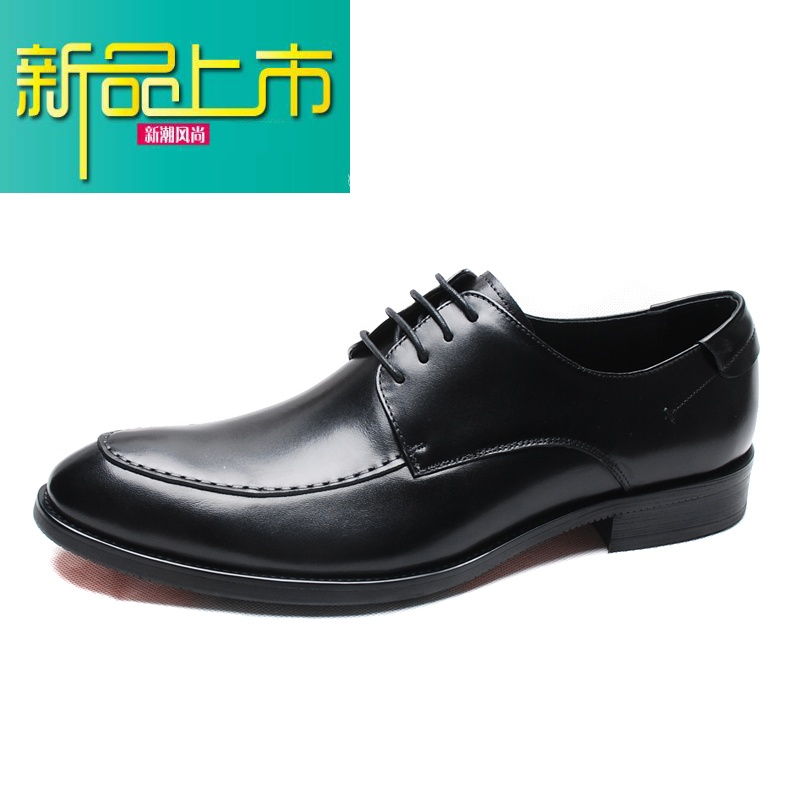 新品上市意大利男鞋秋商务正装皮鞋男真皮潮鞋婚鞋尖头鞋子男英伦德比鞋   新品上市,1件9.5折,2件9折