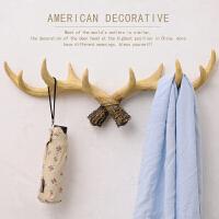 北欧圣诞鹿角壁挂挂衣架挂钩创意玄关门口置物架鹿头装饰品试衣间