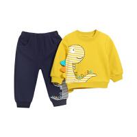 男童套装1-3岁婴儿运动儿童衣服卫衣幼儿春秋男宝宝春装