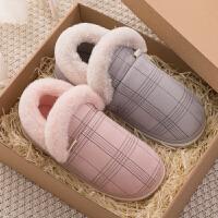 包跟棉拖鞋女冬季家用情侣月子家居厚底加绒毛室内棉鞋男学生宿舍