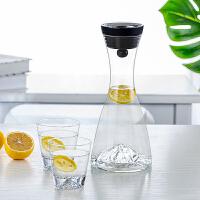 玻璃水壶耐热凉水壶家用冷水壶耐高温扎壶玻璃杯礼盒套装