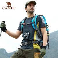 camel骆驼户外男款速干圆领T恤 春夏新款透气排汗短袖速干衣