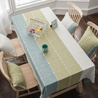 格子风桌布布艺棉麻小清新现代简约家用餐桌布文艺茶几布