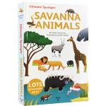 英文原版 Twirl Ultimate Spotlight: Savanna Animals 精装 立体翻翻书 STE