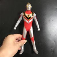 盖亚奥特曼软胶人偶玩具套装 盖亚变身器蓝宝锥可发光 儿童变形男