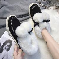 ins加绒棉板鞋潮保暖休闲鞋冬季韩版运动鞋百搭学生女鞋子ulzzang 黑色 H1823K