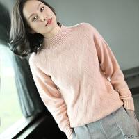 女装秋冬纯色加厚半高领羊绒衫女 纯羊绒毛衣套头单件打底针织衫