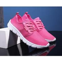 韩版运动鞋女鞋学生帆布鞋网面透气跑步鞋201大码超轻鞋