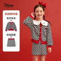【4折�A估�r:124.3元】迪士尼女童2020新款春秋毛�套�b�和�����洋�馍弦氯棺�杉�套童�b