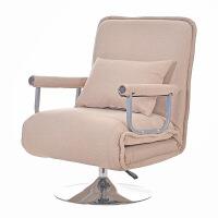 折叠床躺椅两用单人 办公室可折叠沙发床两用单人午休椅多功能家用午睡床布艺折叠躺椅