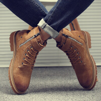 马丁靴男秋季韩版潮流英伦短靴子男士复古皮靴高帮沙漠工装鞋