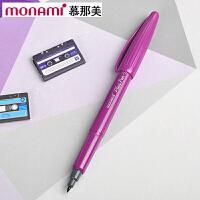 韩国monami/慕娜美04031-08 PLUS PEN 紫色水性笔勾线笔纤维笔绘图笔彩色中性笔签字笔书法美术绘画艺