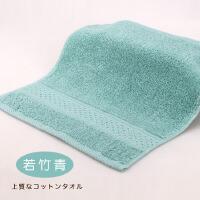 素色�棉方巾 �和�巾柔�吸水全棉洗�小毛巾 ������杭矣� 34x34cm