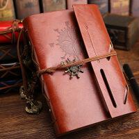 日韩创意文具批发 复古海盗船笔记本 旅行日记本活页记事本