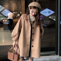 2019新款反季清仓流行大衣新款韩版宽松中长款小个子森系毛呢外套女学生潮