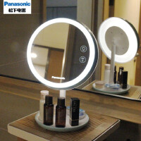 松下化妆镜台式led灯网红智能充电桌面梳妆镜子女带灯补光镜便携