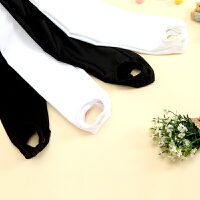 儿童连裤袜踩脚裤袜舞蹈裤连体袜幼儿黑白色练功裤