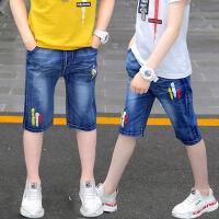 男童牛仔短裤夏季薄款8七分裤9儿童裤子1011男孩中裤12岁