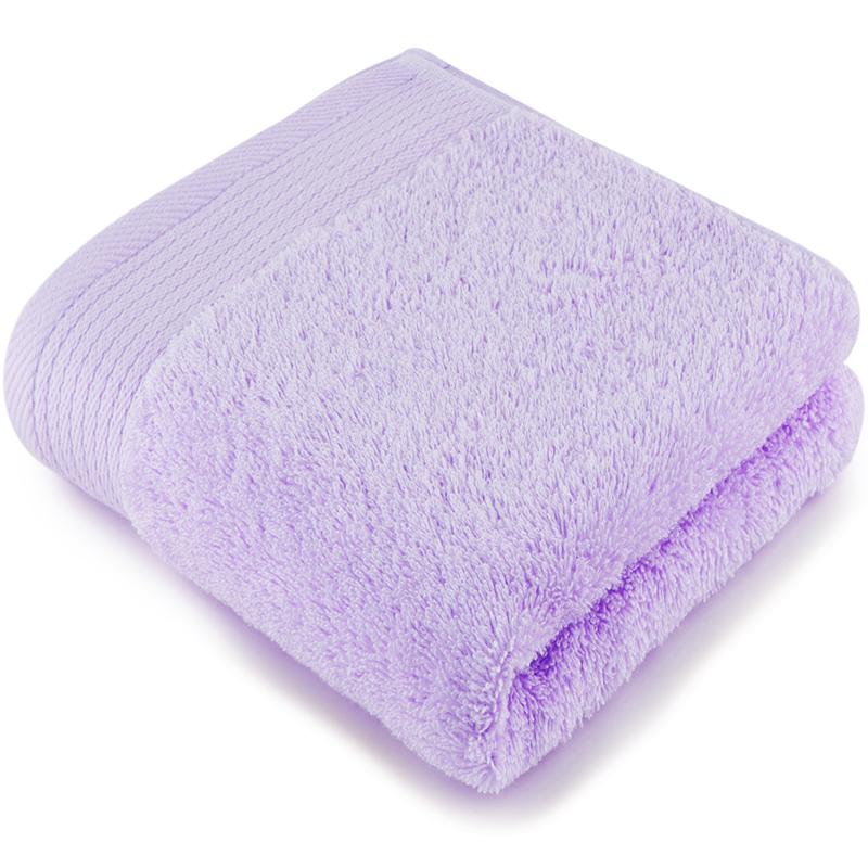 [当当自营]三利 A类加厚长绒棉缎边大面巾 紫丁香色 纯棉洗脸毛巾 柔软舒适 带挂绳 婴儿可用