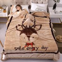 云毯双层加厚毛毯床单单人双人珊瑚绒毯子儿童学生宿舍盖毯拉舍尔y