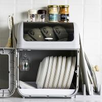 厨房碗架碗筷收纳盒放碗碟沥水装碗箱带盖餐盘置物架塑料家用碗柜
