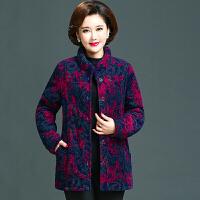 新年特惠中老年女装棉衣纯棉妈妈宽松棉袄冬装外套新款老人加厚奶奶装 紫
