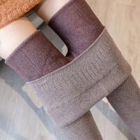 冬季螺纹打底裤女大码胖mm200斤内外穿弹力加绒加厚高腰保暖棉裤
