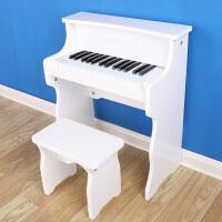 韩版钢琴儿童初学者木质宝宝小钢琴儿童玩具0-8岁电子琴 白色 现货