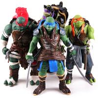 大号26CM 真人电影版 忍者神龟 儿童玩具 可动人偶 公仔模型