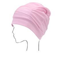 纯色女士大号护耳布泳帽舒适长发粉色温泉游泳帽