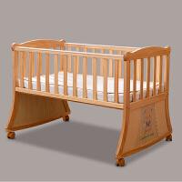 婴儿床多功能实木床儿童宝宝摇篮床进口松木游戏床