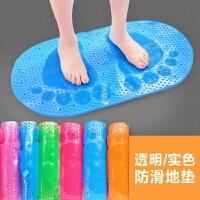 浴室防滑垫家用卫生间垫子透明脚丫踩垫门垫塑料脚垫带吸盘地垫