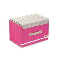 蜗家 单盖腹膜纯色可洗收纳箱 储物箱整理箱有盖单个小收纳箱颜色随机