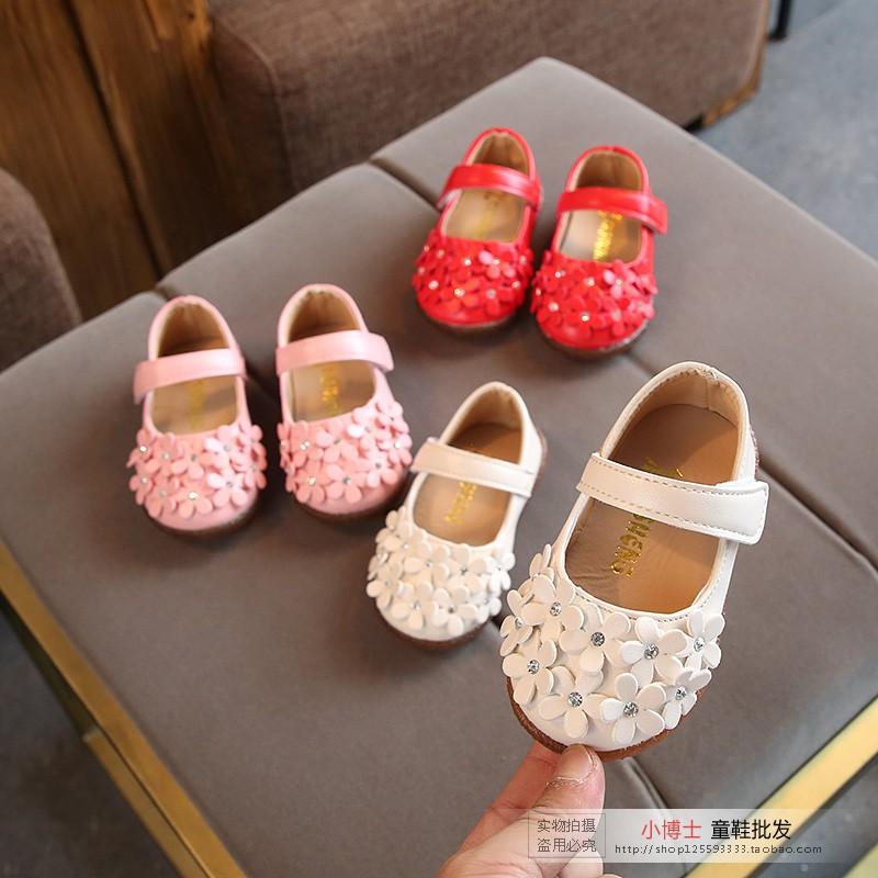 婴儿鞋童鞋一岁半女宝宝春秋单鞋1-3岁2女童皮鞋小女孩软底公主鞋