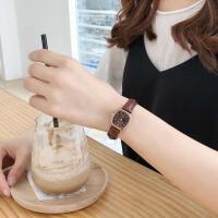 ins复古文艺手表女学生韩版简约方形皮带手表女