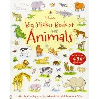 Big Sticker Book of Animals 进口英文原版 宝宝贴纸书:动物