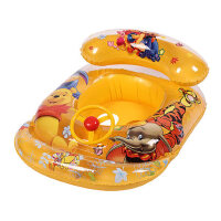 新 款 泳 圈 把 手 游 泳 圈 泳 船 婴 幼 儿 宝 宝 卡 通 儿 童 坐圈充气圈