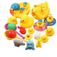 宝宝洗澡玩具 婴儿游泳玩具 小黄鸭 洗澡鸭子戏水玩具 婴幼儿玩具长颈鹿小青蛙捞鱼玩具 宝宝洗澡