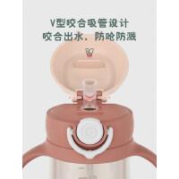 物生物儿童水杯男女宝宝水壶两用防摔便携家用可爱带吸管杯子