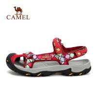 camel骆驼户外女款沙滩鞋 防滑透气女士沙滩凉鞋
