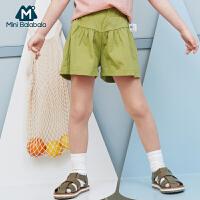 【99选3】迷你巴拉巴拉女童短裤2019夏装新款儿童花苞裤宽松裤子裙裤短款